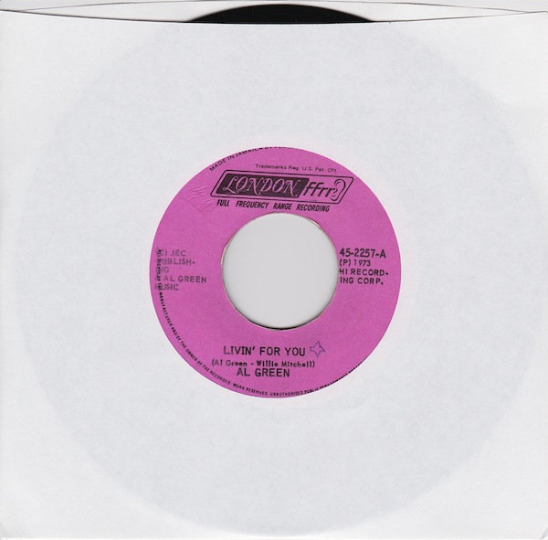 "AL Green - Living For You (HI-2257 - 7"")"