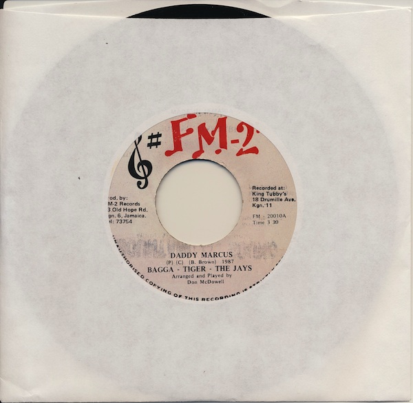 "Bagga-Tiger-The Jays - Daddy Marcus (FM-20010 -7"")"