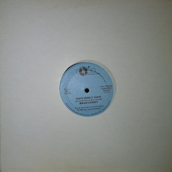 "Brad Lundy - That's When It Hurts (BL1983 - 12"")"