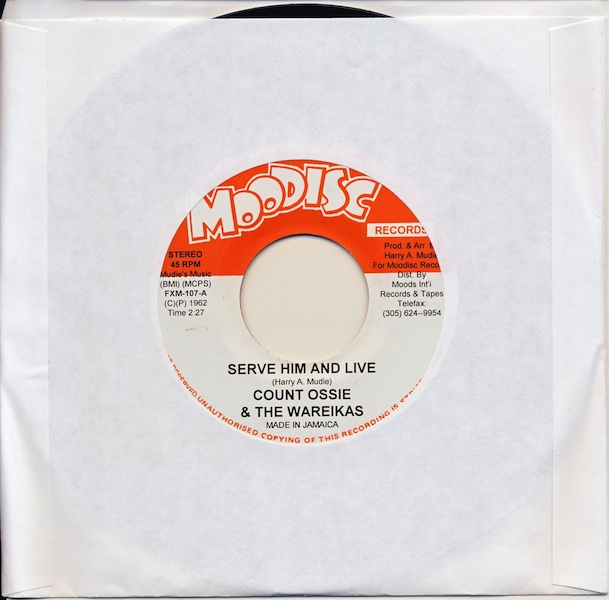 "Count Ossie - Serve Him And Live (FXM107 -7"")"