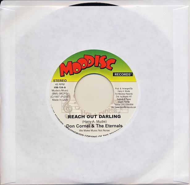 "Don Cornel & The Eternals - Reach Out Darling (HM104 -7"")"