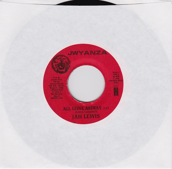 "Jah Lewis - All Gone Astray (JO35 - 7"")"