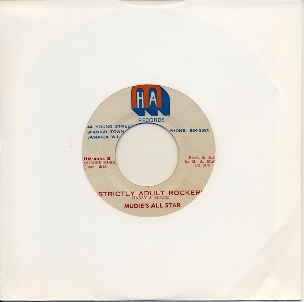 "Mudies All Stars - Strictly Adult Rockers (HM8056B -7"")"