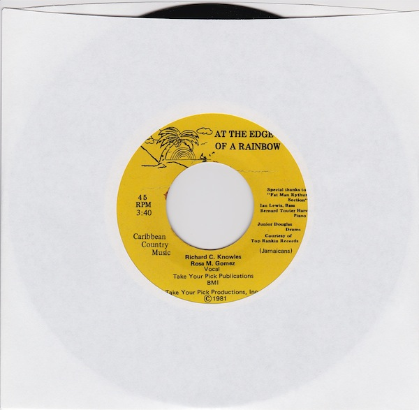 "Richard & Rosa - At The Edge Of A Rainbow (RE1 - 7"")"