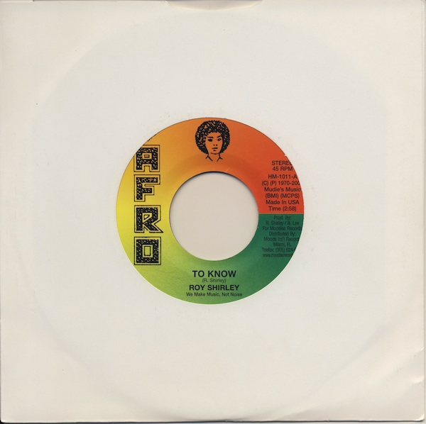 "Roy Shirley - To Know (AHM1011 -7"")"